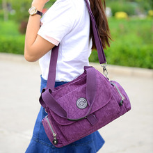 Women Messenger Bags For Female Beach Solid Nylon Handbag Tote Casual Shoulder Bag Satchel Crossbody Bags Bolsas Femininas