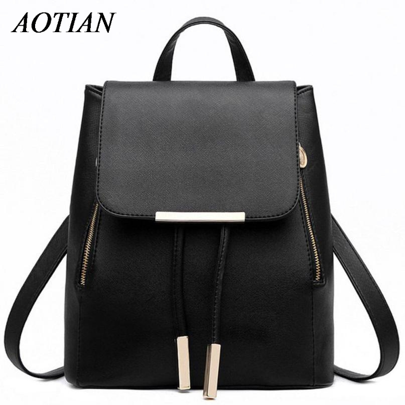 Women Backpack High Quality PU Leather Mochila Escolar School Bags For Teenagers Girls Top-handle Backpacks Herald Fashion D35M4