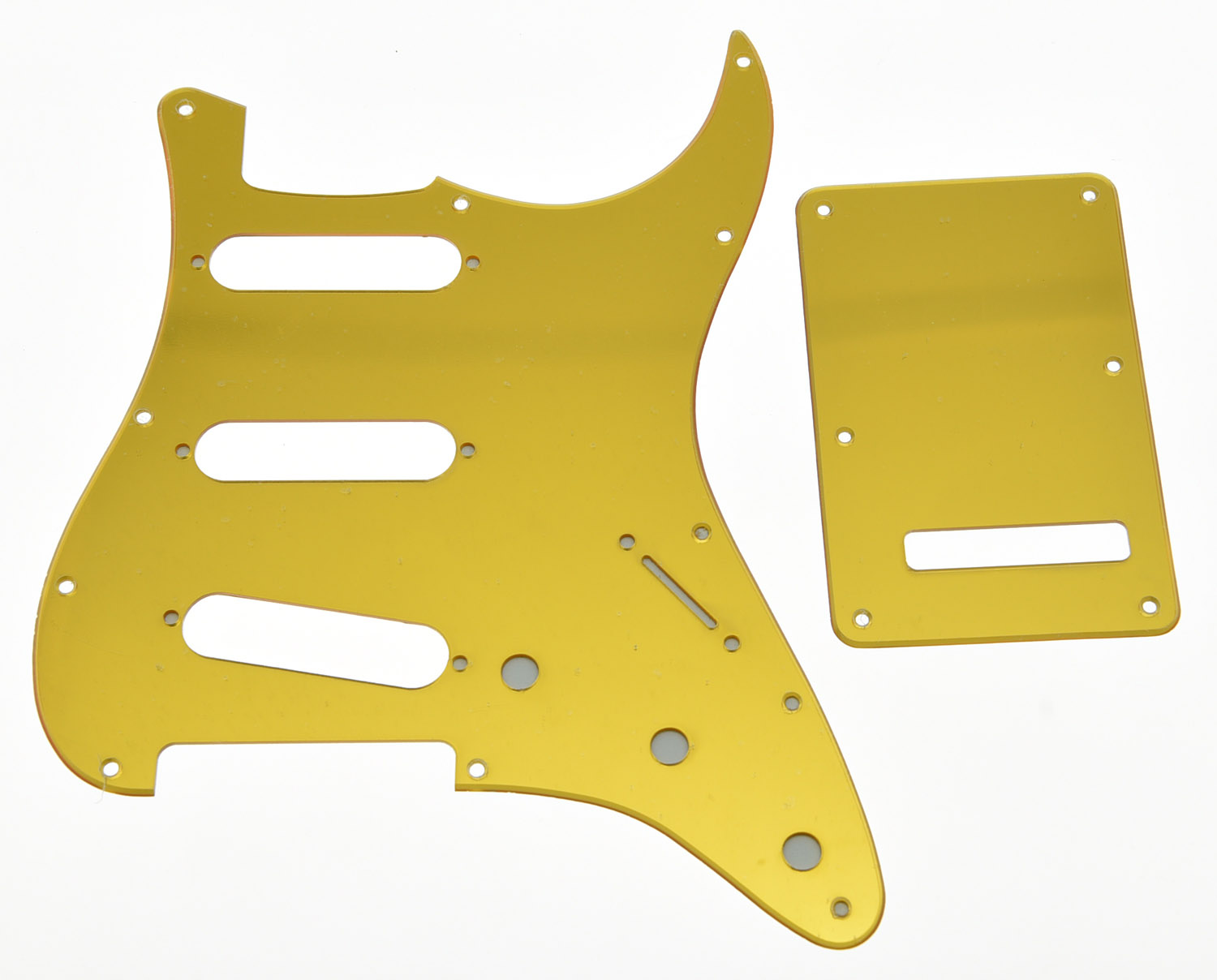 KAISH Gold Mirror SSS ST Style Guitar Pickguard Back Plate Screws fits USA ST sg standard full face guitar pickguard scratch plate zebra stripe with screws