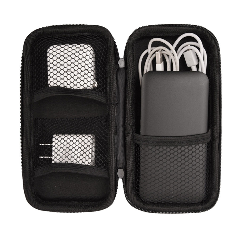 Multi-function Storage Bag Zipper Electronic Products Travel Mobile Power Hard Disk Bag Digital Accessories 19*10*4cm