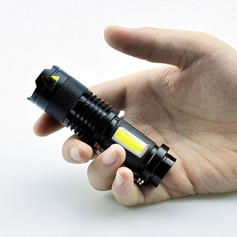 2 предмета в комплекте! тактический фонарь T6 + Q5 УДАРА СВЕТОДИОДНЫЙ вспышки света Алюминий Водонепроницаемый Масштабируемые Факел мини пальчиковые походный фонарь