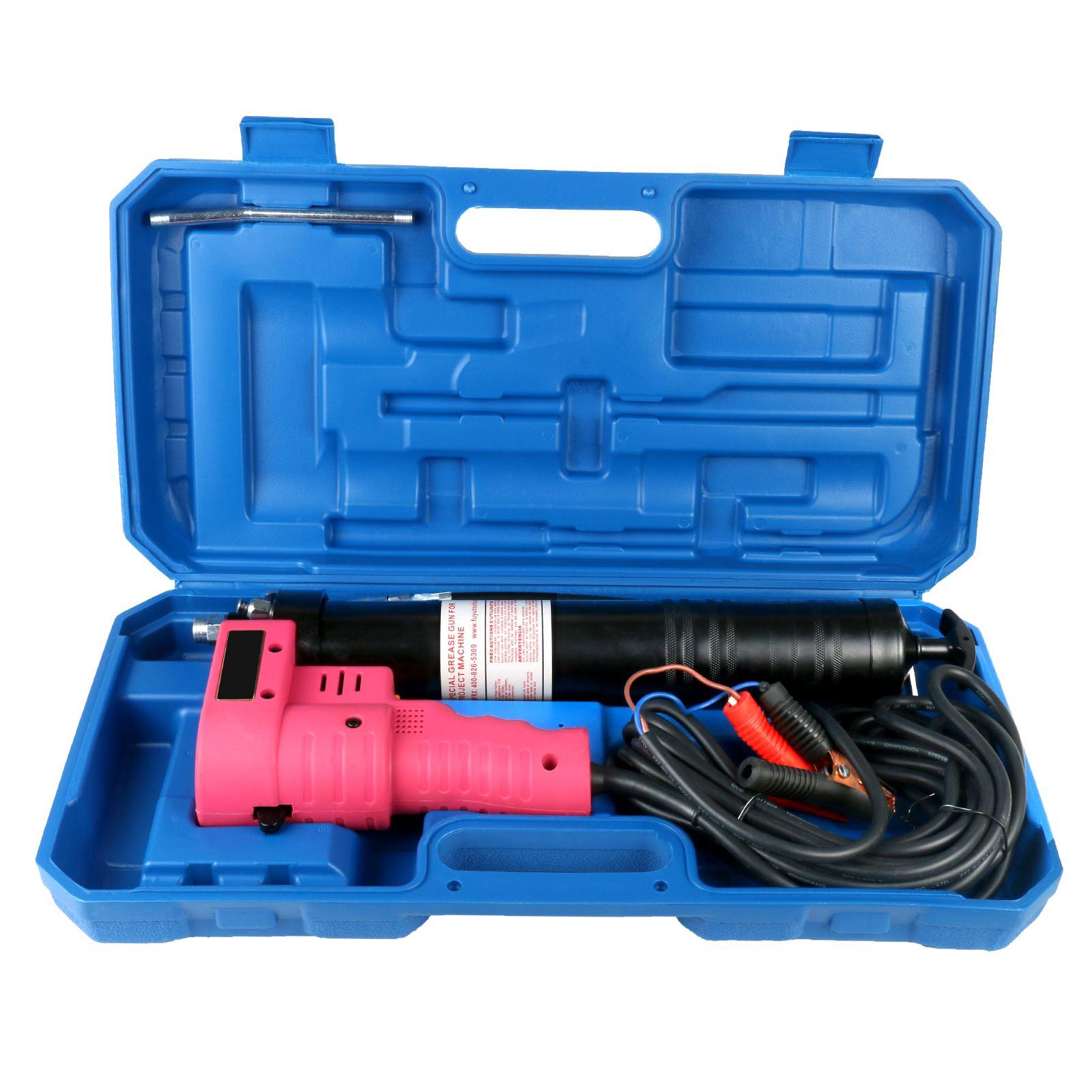 Ht-600 Auto réparation outil lubrifiant huile ravitaillement Machine 600 CC 12 V/24 V électrique haute pression pistolet à graisse