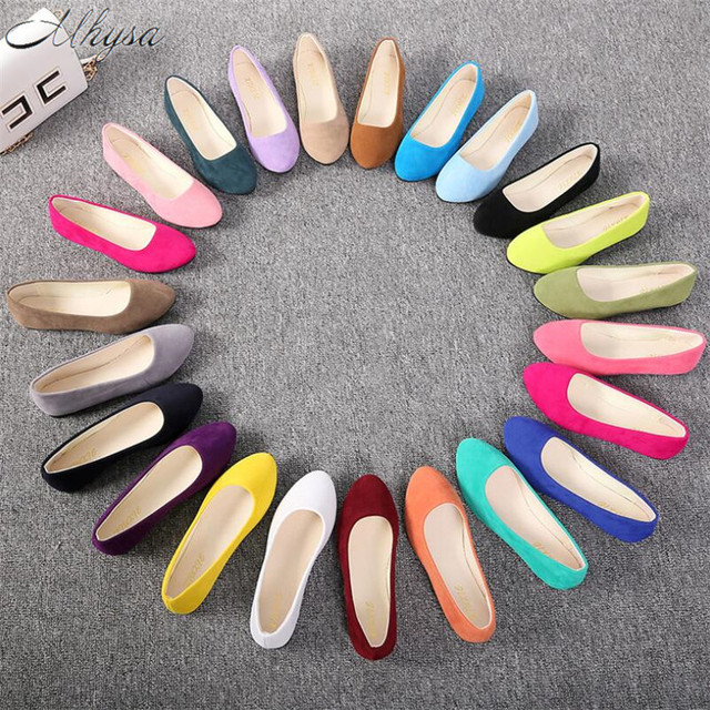 Mhysa 2019 Scarpe Flat Donne Scarpe Donna di Colore Della Caramella Mocassini Primavera Casual Piatto Scarpe Da Donna Zapatos Mujer Plus Size 35- 43 T387