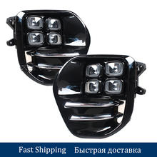 цена на OEM LED Fog Light Lamp Daytime Running Light Set For KIA Sportage QL kx5 2016 2017+ Auto Car White LED DRL Light For KIA KX5
