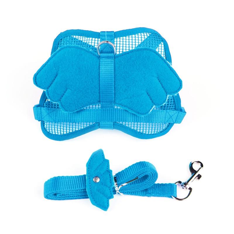Cute Adjustable Small Pets Angel Wing Chest Strap Harness Leash Lead Strap Nylon