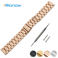 Stainless Steel Quick Release Watch Band 18mm 20mm 22mm For MK Folding Buckle Strap Wrist Belt