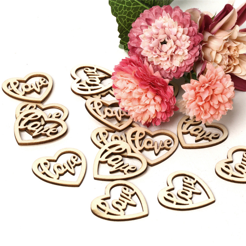 15pcs lot Fashion Vintage Wooden Birde Groom Love Family Letters Crafts DIY Home Ornaments Wedding Party Decorative Supplies in Party DIY Decorations from Home Garden