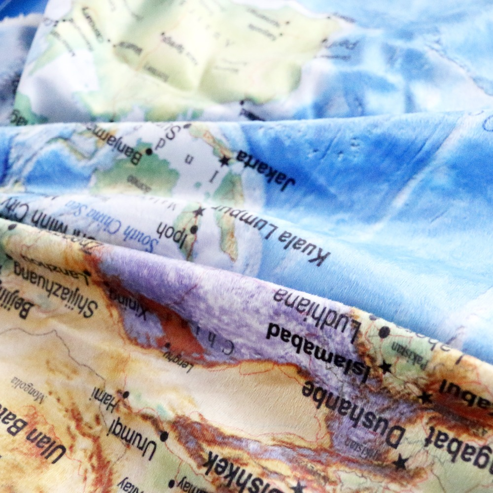 Beddingoutlet blue sherpa throw blanket world map vivid printed beddingoutlet blue sherpa throw blanket world map vivid printed sherpa fleece blanket super soft cozy velvet plush throw blanket in blankets from home gumiabroncs Gallery