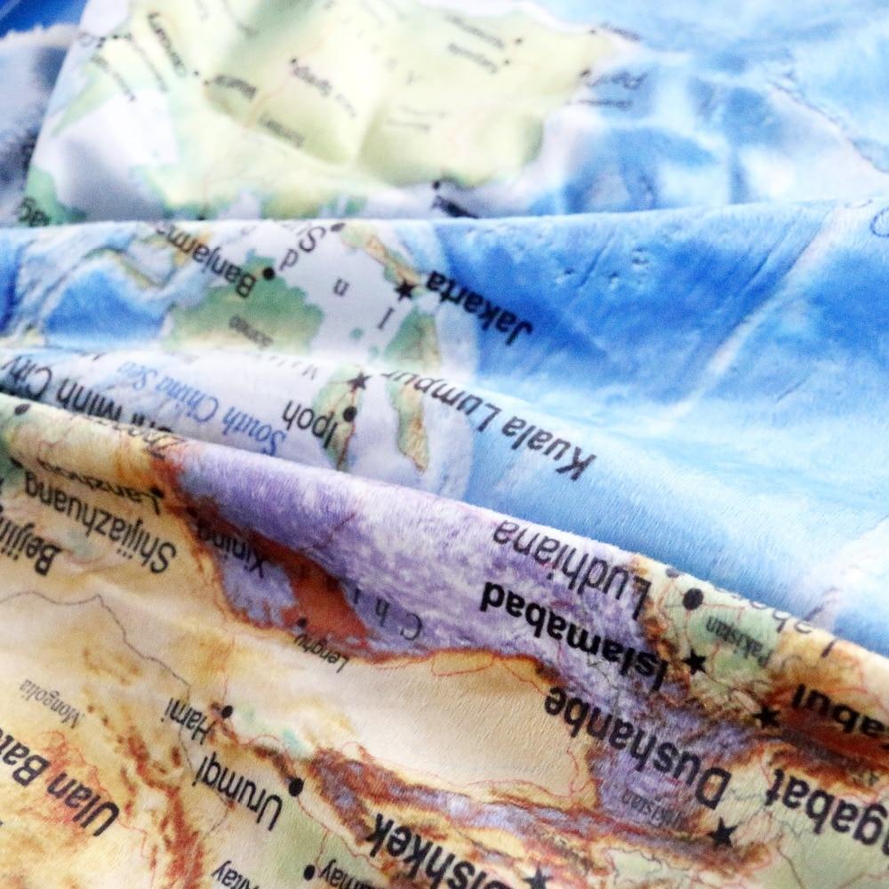 Beddingoutlet blue sherpa throw blanket world map vivid printed beddingoutlet blue sherpa throw blanket world map vivid printed sherpa fleece blanket super soft cozy velvet plush throw blanket in blankets from home gumiabroncs Images