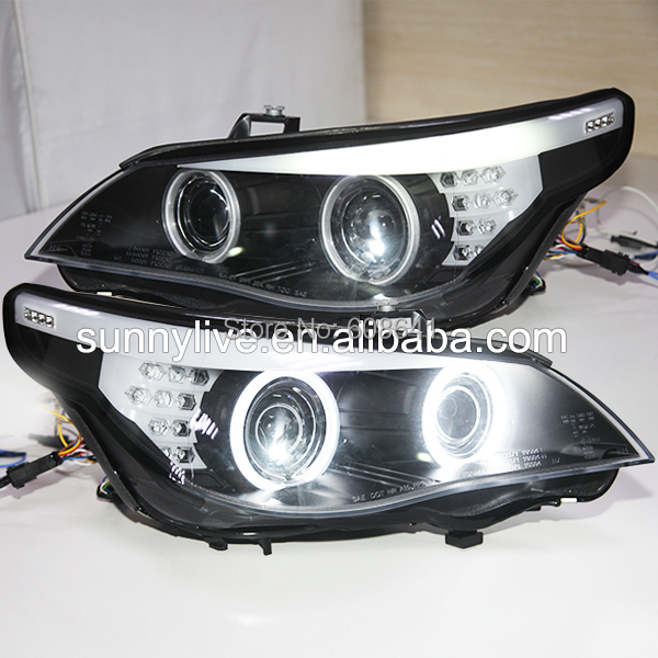 E60 523i 525i 530i Testa Luce CCFL Angel Eyes 2005-2006Year Per BMW auto originale con kit HID