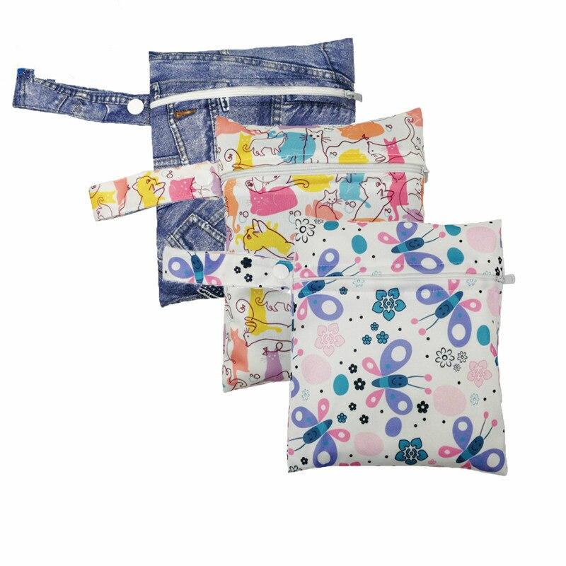 Portable 16*20 Cm Mummy Bag Multiple Styles Cute Babys Diaper Bags Travel Portable Waterproof Stroller Organizer Diaper Supplies