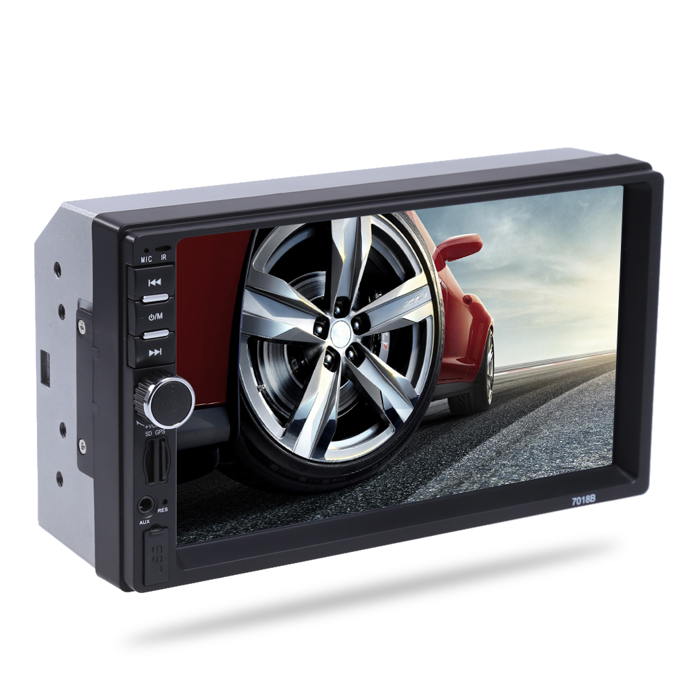 2 Din Auto Car Multimedia Player with GPS Navigation 7'' HD Touch Screen MP3 MP5 Audio Stereo Radio Bluetooth FM USB MP5 player ln 5127 7 hd double din capacitive touch screen car portable gps navigation quad core fm mp3 car stereo radio player with map