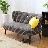 Средний век современный стиль диван любовь сиденье цветная Кнопка японский стиль низкий диван маленький для домашнего офиса гостиная мебе