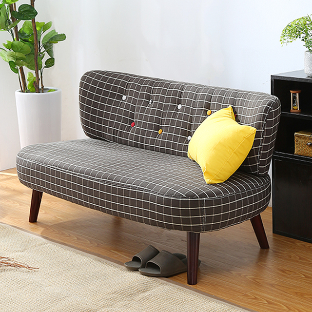 US $265.05 5% OFF|Mid Century Modern Style Sofa Love Seat Colored Button  Japanese Style Low Sofa Small for Home Office Living Room Furniture  Couch-in ...