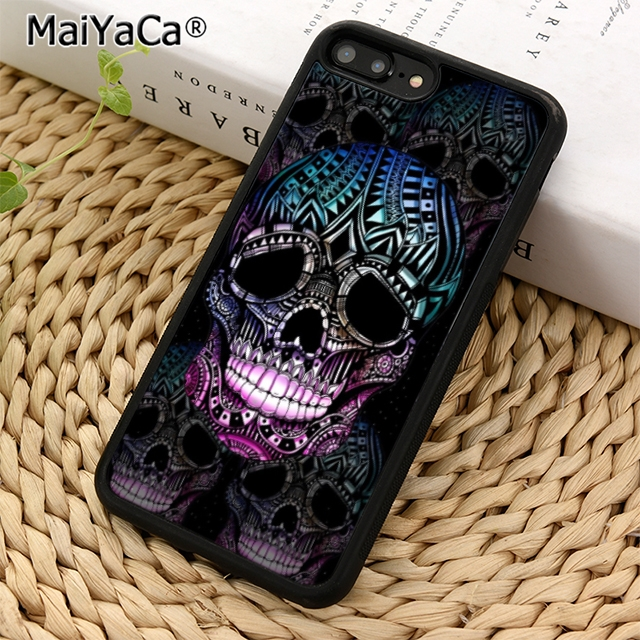 MaiYaCa Skull gothic supernatural illustration Phone Case For iPhone 5 6 6s 7 8 plus 11 pro X XR XS max Samsung S6 S7 edge S8 S9