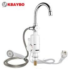 3000 Вт мгновенный безрезервуарное водонагреватель Электрический смеситель для душа Кухня Мгновенный нагрев водопроводной воды нагреватель с ЕС Plug