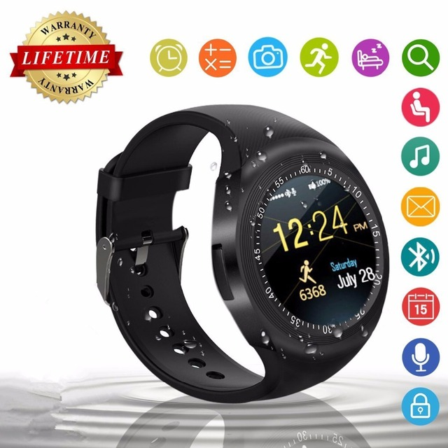 6bf997d90f8198 2018 Best T1 Wearable Fitness Tracker Bluetooth Smart Watch Phone Smartwatch  for Kid Men Women Fashion Android Smat Watch