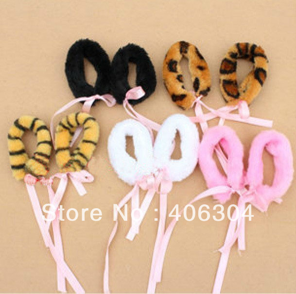 Free shipping,Cosplay item,plush party bracelet,cat ,tiger,leopard print,suitable for children and adult