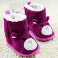 Hot Baby Shoes Infants Crochet Knit Fleece Boots Toddler Girl Boy Wool Snow Crib Shoes Winter Booties
