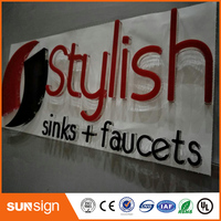 Painted Acrylic Cutting Letters