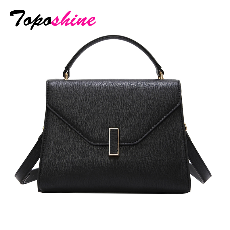 Toposhine Fashion Women Bag Female Simple Casual Female Handbag Cover Fashion Solid Color Shoulder Messenger Bag Drop Shipping