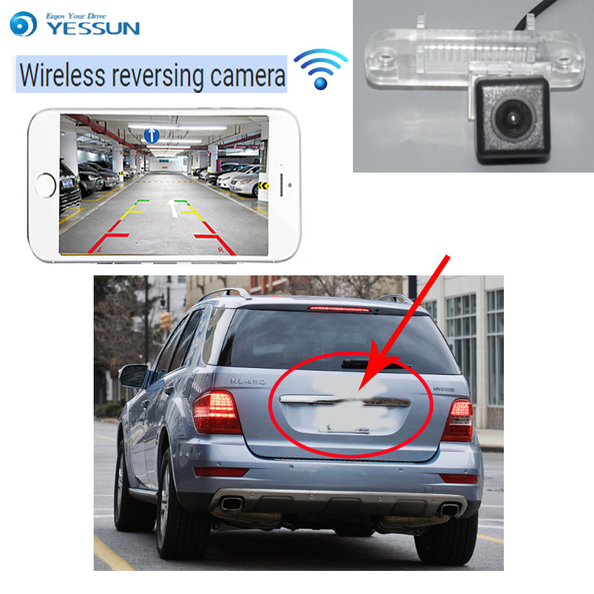 YESSUN For Mercedes Benz M ML W164 ML450 ML350 ML30 Reverse Camera Auto Wireless Rear View Camera Rear View Camera  Night Vision