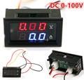 1Pcs Mini DC0-100V 10A/50A/100A Car 2 in 1 Digital Voltmeter Ammeter Dual Panel Amp/Volt Combo Meter For Car Motocycle