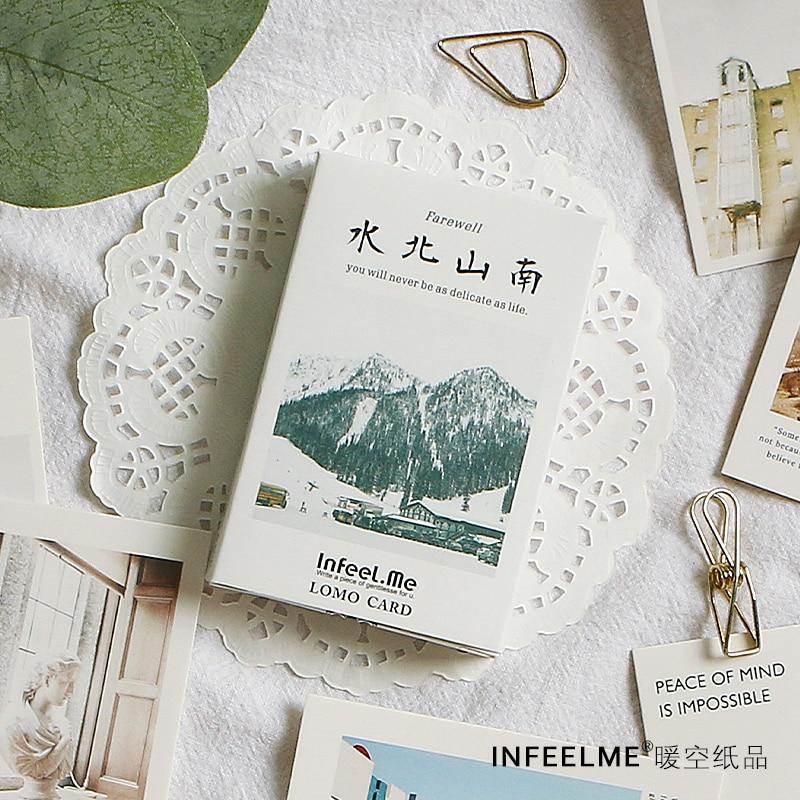 28 Sheets/Set Mountain And Sea View Lomo Card Mini Postcard Creative Birthday Greeting Card Message Card