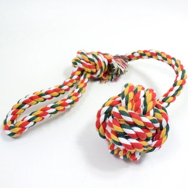 Nieuwe Stijl Katoen Touw Kat Dog Toys Hand Pull Lange staart Bal Speelgoed Huisdier Katoenen Touw Speelgoed Hond Producten Groothandel Verkoop