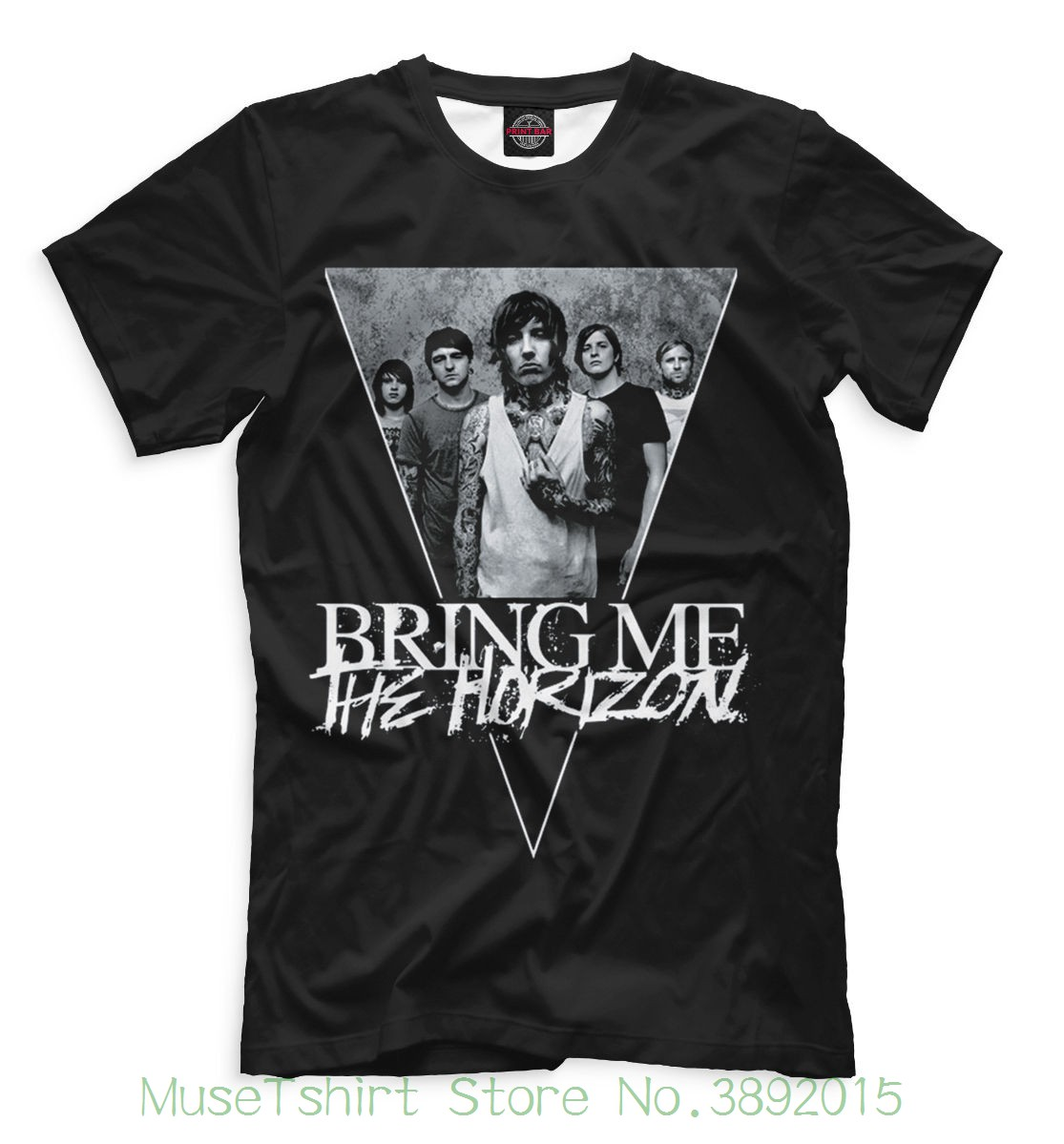 New T-shirt Music Bring Me The Horizon Cool Designe Hq Short Sleeve Discount 100 % Cotton T Shirts