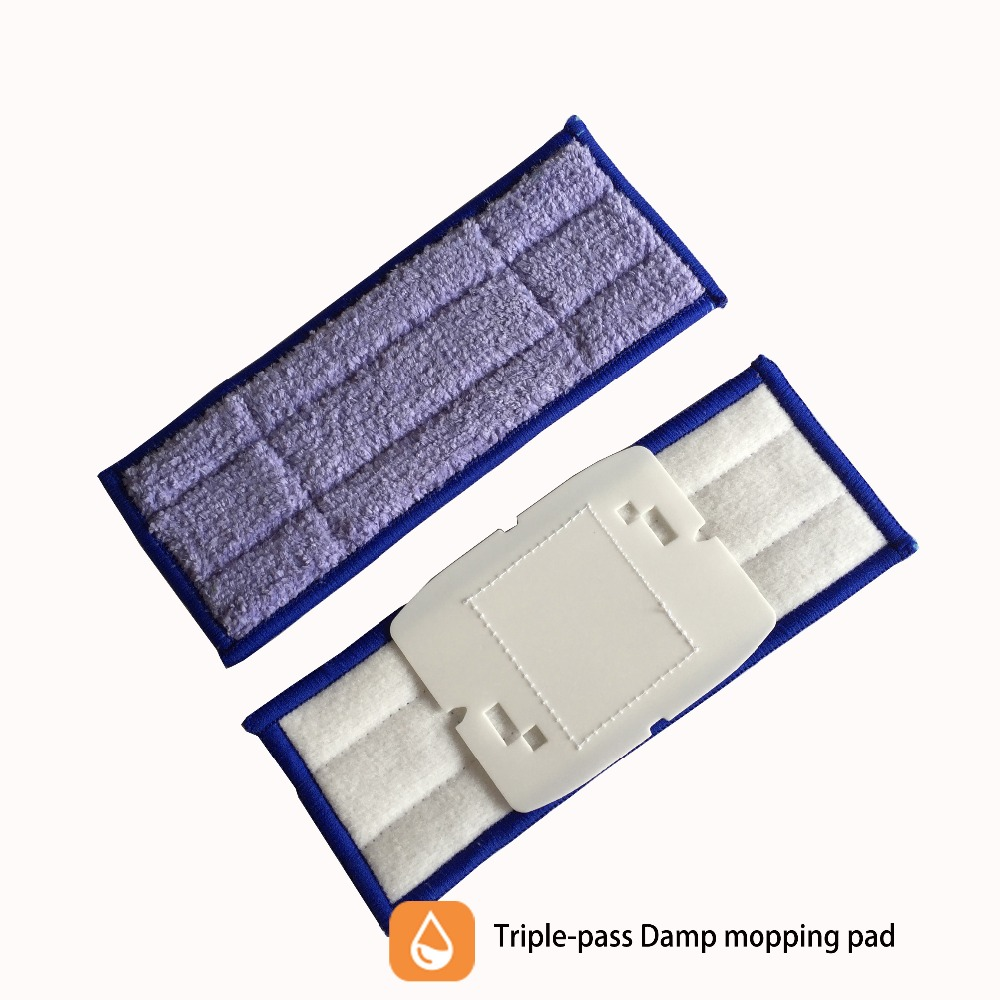 3pcs/lot Replacement Triple-pass Washable damp sweeping Pads mopping pads  for iRobot Braava Jet 240 new 3pcs deep clean blue microfiber replacement washable wet mopping pads for braava jet 240 cleaner