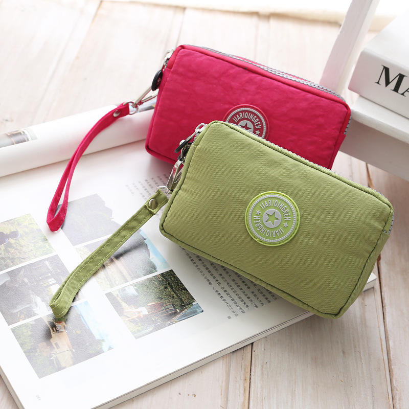 2018 Wallet Women Vintage Fashion Top Quality Small Wallet nylon Purse Female Money Bag Small Zipper Coin Pocket Brand Hot !! цена