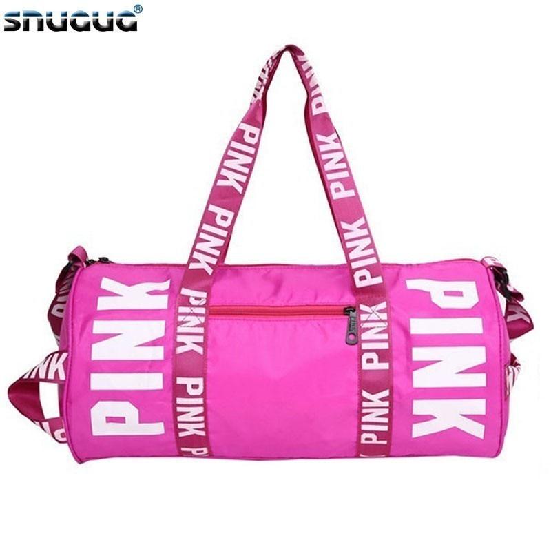 SNUGUG Nylon Woman Sport Bag For Fitness Waterproof Clothing Fitness Bag Girls Outdoor Pink Gym Bag Men Training Travel Handbags