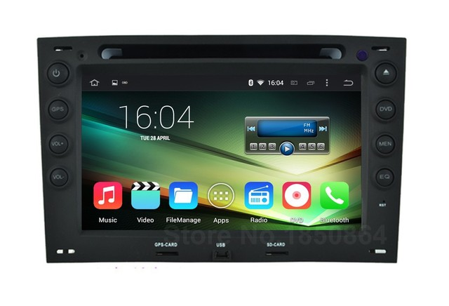 Quad Core HD 1024*600 Android 5.1.1 Автомагнитола DVD GPS для Renault Megane 2006 2007 2008 с BT wi-fi Радио