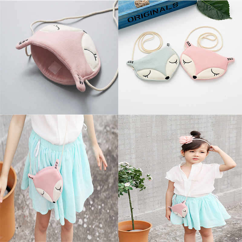 Baby photography props accessories Cute Fox Puppy Baby Small Bag Children Bag Fashion Kids Wallet Bag Girls Bags Cartoon cute