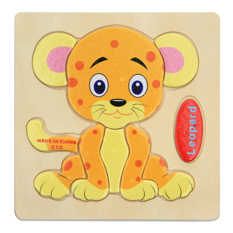 Пазл деревянный пазл шаблоны мультфильм животных в возрасте 4 года 3D образования натурального дерева игрушки для детей