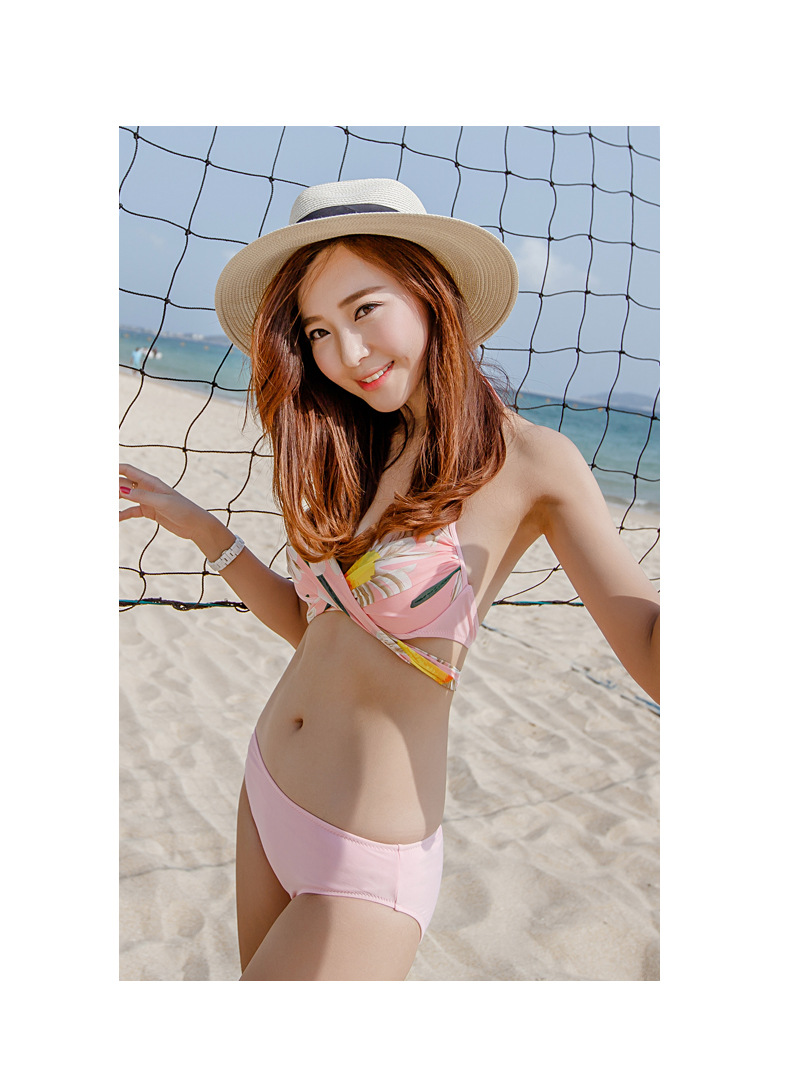ФОТО Three big foreign trade in Europe and the bikini skirt type ms steel small chest together show thin bikini bathing suit