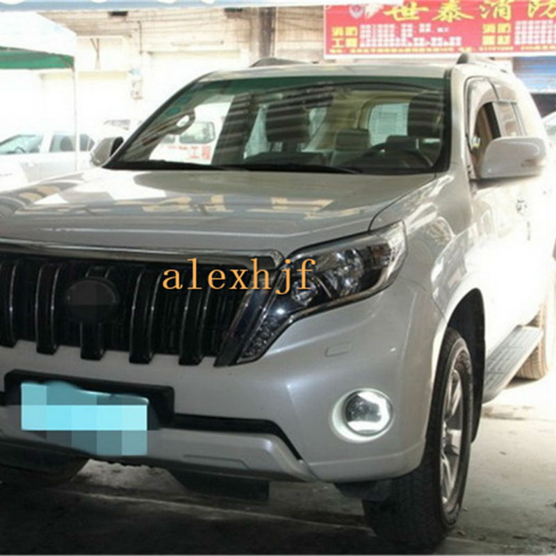 July King LED Daytime Running Lights LED Front Bumper Light DRL Case for Toyota Land Cruiser Prado 2700/4000 FJ150 LC150 2014~15 july king led light guide daytime running lights drl case for toyota land cruiser 2010 12 1 1 replace original decorative frame