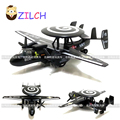 23x14cm High imitation transport alloy Hawkeye Early warning aircraft model pull back toy for children Collection