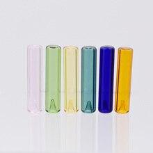 цена на 6X cylinder 36*8mm Diffuser Perfume Refillable handmade Essential Oil Aromatherapy Bottle jewelry glass pendant