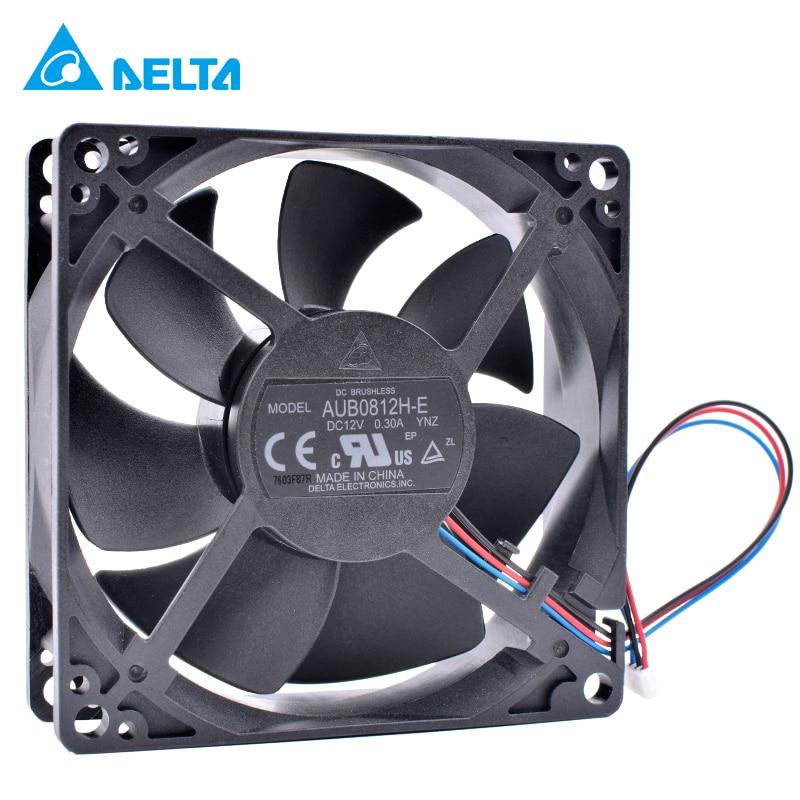 Оригинальный Новый Дельта AUB0812H-E YNZ 8 см 8025 12 В 0.3A 8 см 3 провода проектор осевой вентилятор охлаждения