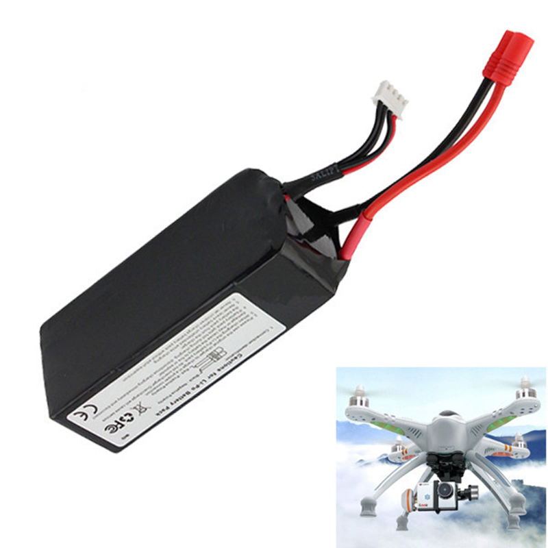 ФОТО 2Pcs Li-ion Lipo Battery 11.1V 5200Mah 3S For Walkera QR X350 PRO RC Drone Quadcopter Helicopter Dron Bateria Lipo Rechargeable