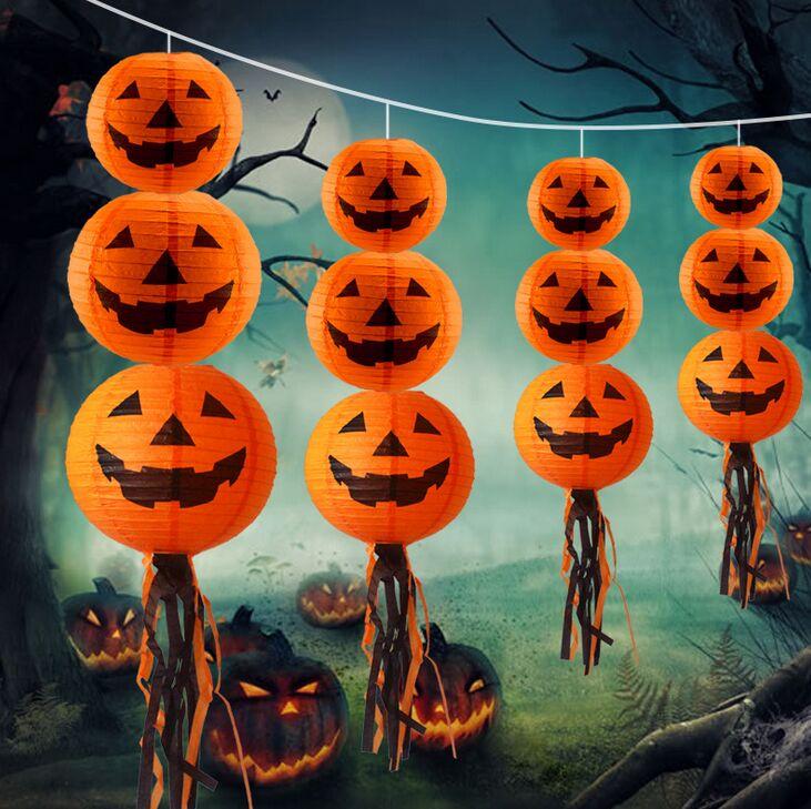 Decoracao De Halloween Para Festa De Aniversario.Halloween Lanterna De Papel Lanternas Aniversario Festa De Casamento