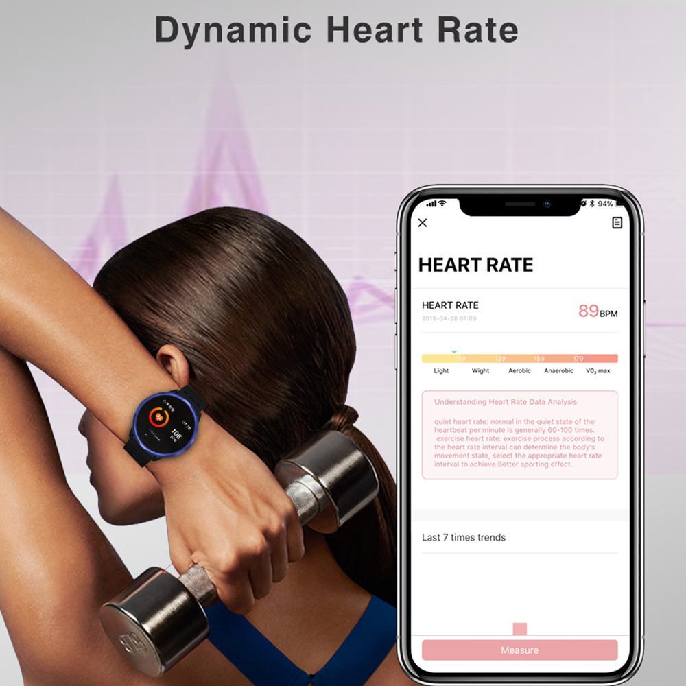 """Image 4 - Virtoba CN88 Smart Watch 1.3"""" Color Display Activity Fitness Tracker Blood Oxygen Blood Pressure BRIM Men Women Smartwatch PKV11-in Smart Watches from Consumer Electronics"""
