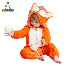 MICHLEY Baby Hooded Romper Winter and Autumn Flannel Animal Style Boys Cosplay Clothes Girls Jumpsuit Outfits for Kids XYZ-Fox