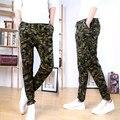 Novo 2016 Camuflagem Dos Homens Calças Calças Dos Homens Do Exército Militar Esporte Ao Ar Livre Moletom Basculador Camo Vestido Ocasional do Harém calças Dos Homens
