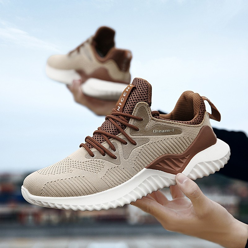 Trend Fashion Men Casual Shoes Fly Line Sneakers White Men's Breathable 2018 New Male Shoes Spring Autumn Plus Size 39-46
