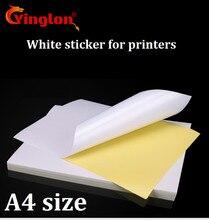 Vận chuyển miễn phí 50 cái/lốc A4 Trắng giấy dán keo tự tay viết in phun Máy in laser Nâu A4 in hình dán