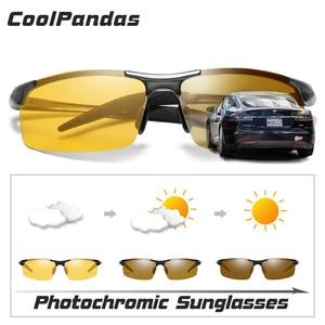 الألومنيوم المغنيسيوم اللونية النظارات الشمسية المستقطبة للرؤية الليلية نظارات الرجال Oculos سائق الأصفر نظارات للقيادة gafas دي سول