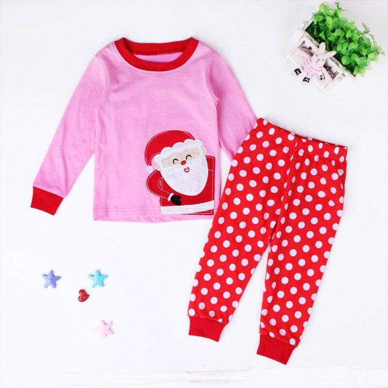 afa7990c6e Children s Christmas Pajamas For Girls Print Santa Claus Pajama Set 2 7  Years Kids Pyjamas Baby Girls Pijama Set Girls Sleepwear-in Pajama Sets  from Mother ...